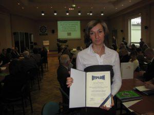 Zdobywczyni pierwszej nagrody Aneta Szulęcka